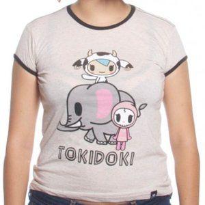 Tokidoki Elephant Love Ringer T-Shirt (Oat) [M]